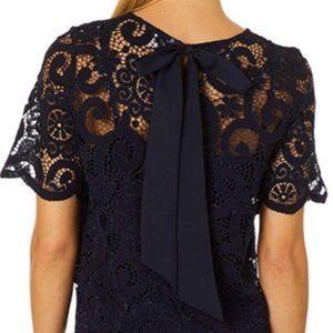 NANETTE LEPORE cottagecore floral lace top   S NWT